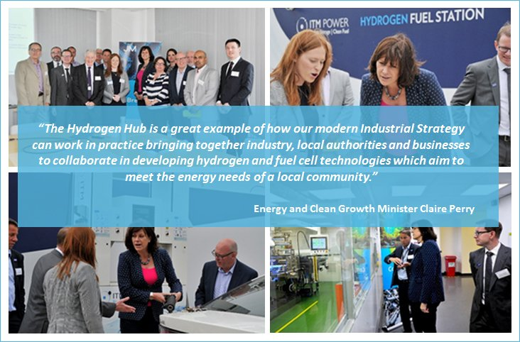 Hydrogen Hub welcomes Energy Minister Claire Perry to Swindon